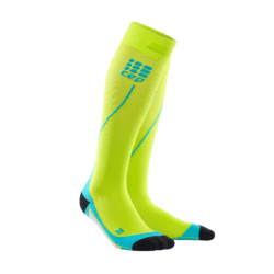 CEP Run Socks 2.0 kompressziós futózokni férfi lime/hawaii blue