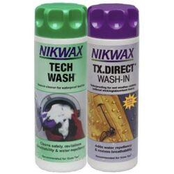 NIKWAX TWIN TECH WASH / TX.DIRECT WASH IN mosószer+impregnáló szett 300 ML