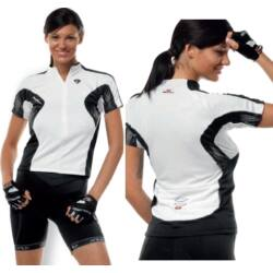Bicycle Line Dajiane női rövid ujjú mez - S - fehér/fekete