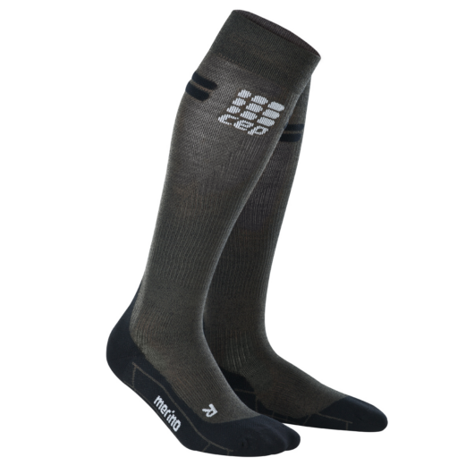 CEP Run merino socks gyapjú kompressziós futózokni férfi anthracit/black