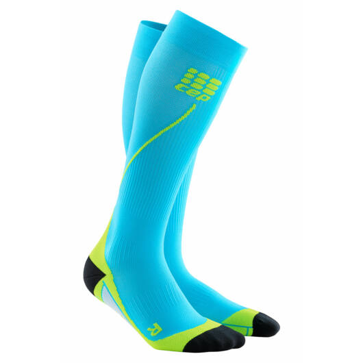 CEP Run Socks 2.0 kompressziós futózokni férfi hawaii blue/green